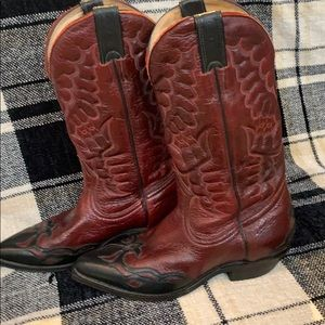 Boulet Deep Red Cowgirl Boots